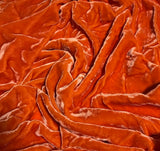 Deep Orange - Hand Dyed Silk Velvet