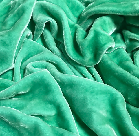 Sea Glass - Hand Dyed Silk Velvet