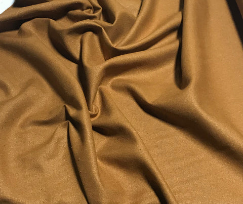 Caramel Brown - Raw Silk Noil Fabric