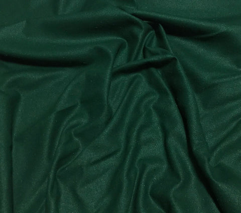 Dark Green - Raw Silk Noil Fabric