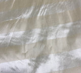 Cream Stripe - Silk Dupioni Fabric