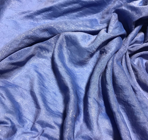 Lapis Blue with Metallic Silver Luster - Hand Dyed Silk/Cotton Voile