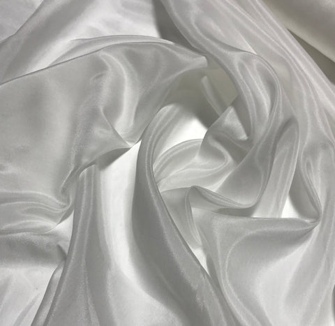 White - Silk/Cotton Voile Batiste Fabric