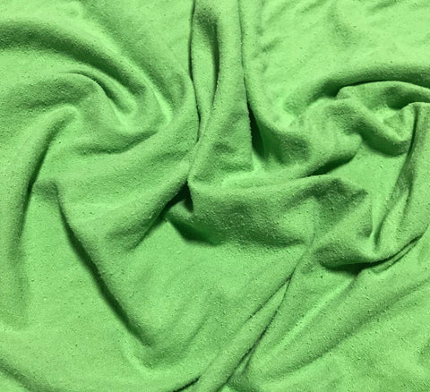 Apple Green - Hand Dyed Silk Noil