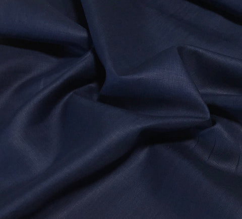 Spechler-Vogel Fabric - Belfast Best Handkerchief Linen - Navy Blue