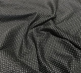 Black & White Swallow Birds Dot - Cotton Sateen Shirting Fabric