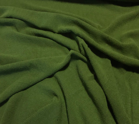 Avocado Green - Hand Dyed Poplin Gauze Silk Noil