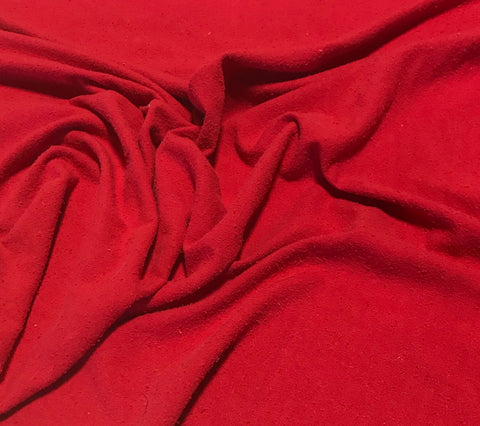 Scarlet Red - Hand Dyed Silk Noil