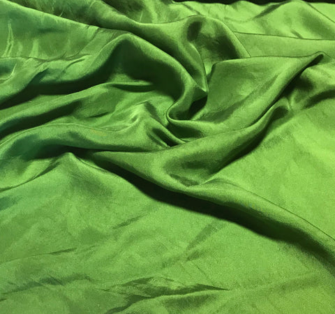 Avocado Green - Hand Dyed Silk Twill