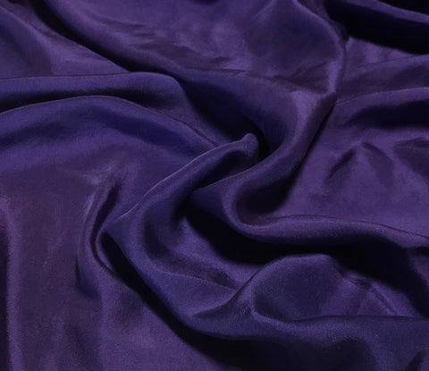 Lavender Purple - Hand Dyed Silk Twill