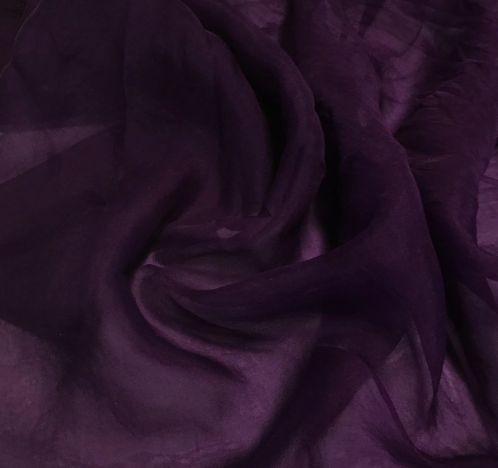 Amethyst Purple - Hand Dyed Silk Organza