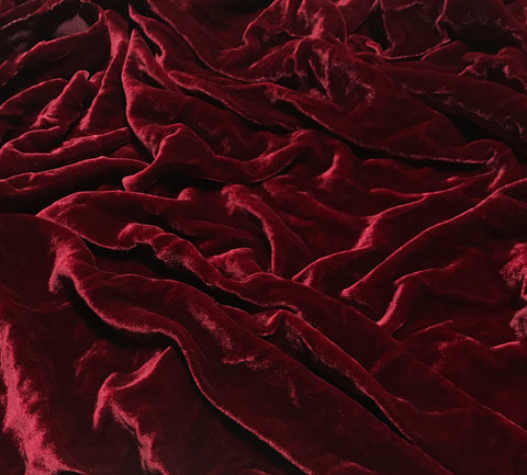 Ruby Red - Hand Dyed Silk Velvet