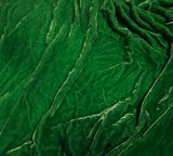 Emerald Green - Hand Dyed Silk Velvet