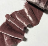 Hand Dyed Dusty Mauve Silk Velvet Ribbon ( 3 Widths to choose from)