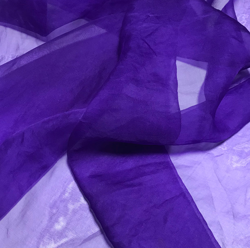 Violet Purple - Hand Dyed Silk Organza