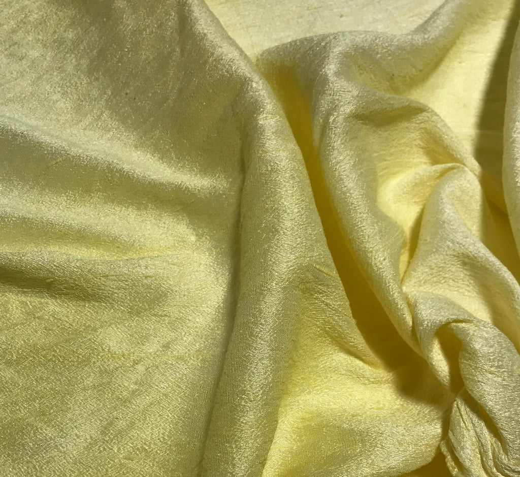 Butter Yellow - Hand Dyed Silk Dupioni