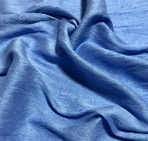 Periwinkle Blue - Hand Dyed Silk Dupioni