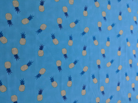 Ananas Aqua Pineapples - Sirena - Art Gallery Fabrics -Premium Cotton
