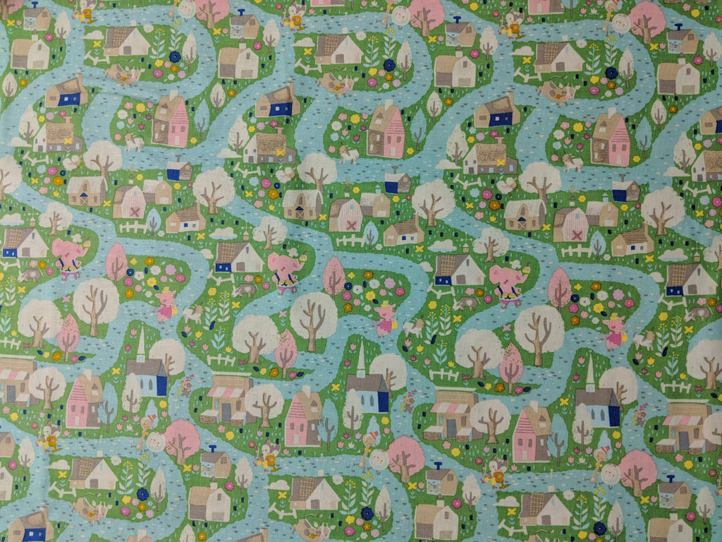 Once Upon A Rhyme - Village Green- Riley Blake Cotton Fabric