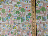 Once Upon A Rhyme - Village Cream - Riley Blake Cotton Fabric