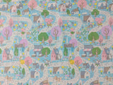 Once Upon A Rhyme - Village Aqua- Riley Blake Cotton Fabric