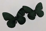 Butterfly - Laser Cut Shapes 2 Pc - Hunter Green Suede Lambskin Leather