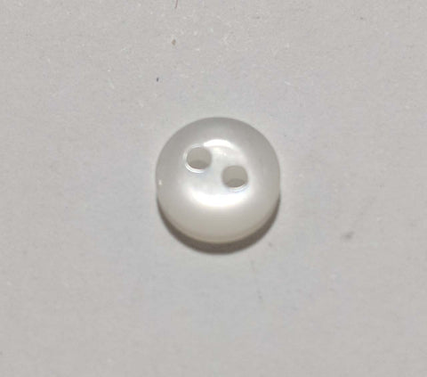 Tiny Baby or Doll 2 Hole Plastic Button -8mm / 5/16 inch Dill Buttons