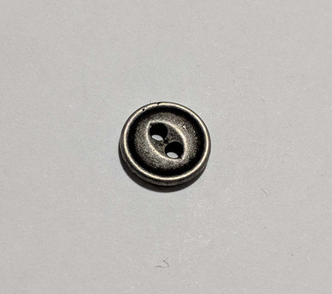 Pewter Metal 2 Hole Button - Dill Buttons