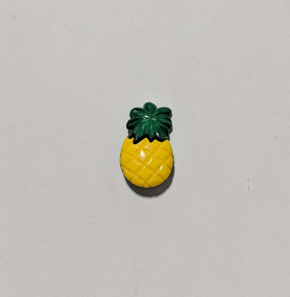 Pineapple Plastic Button - Dill Buttons