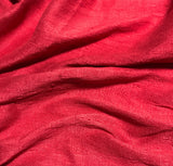 Cherry Red - Hand Dyed Silk Dupioni