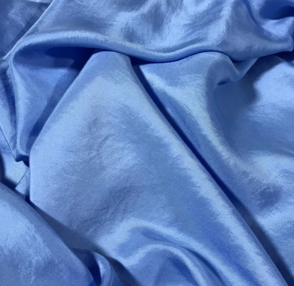 Periwinkle Blue - Hand Dyed Silk Twill