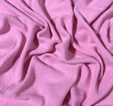 Ballerina Pink - Hand Dyed Squares Weave Silk Noil