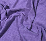 Lavender - Hand Dyed Checkered Weave Silk Noil