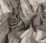 Taupe Brown - 3mm Hand Dyed Silk Gauze Chiffon