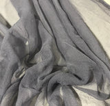 Pearl Gray - 3mm Hand Dyed Silk Gauze Chiffon
