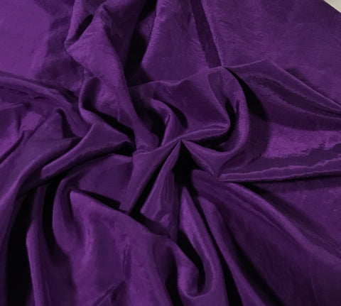 Eggplant Purple - Hand Dyed Silk/ Cotton Habotai