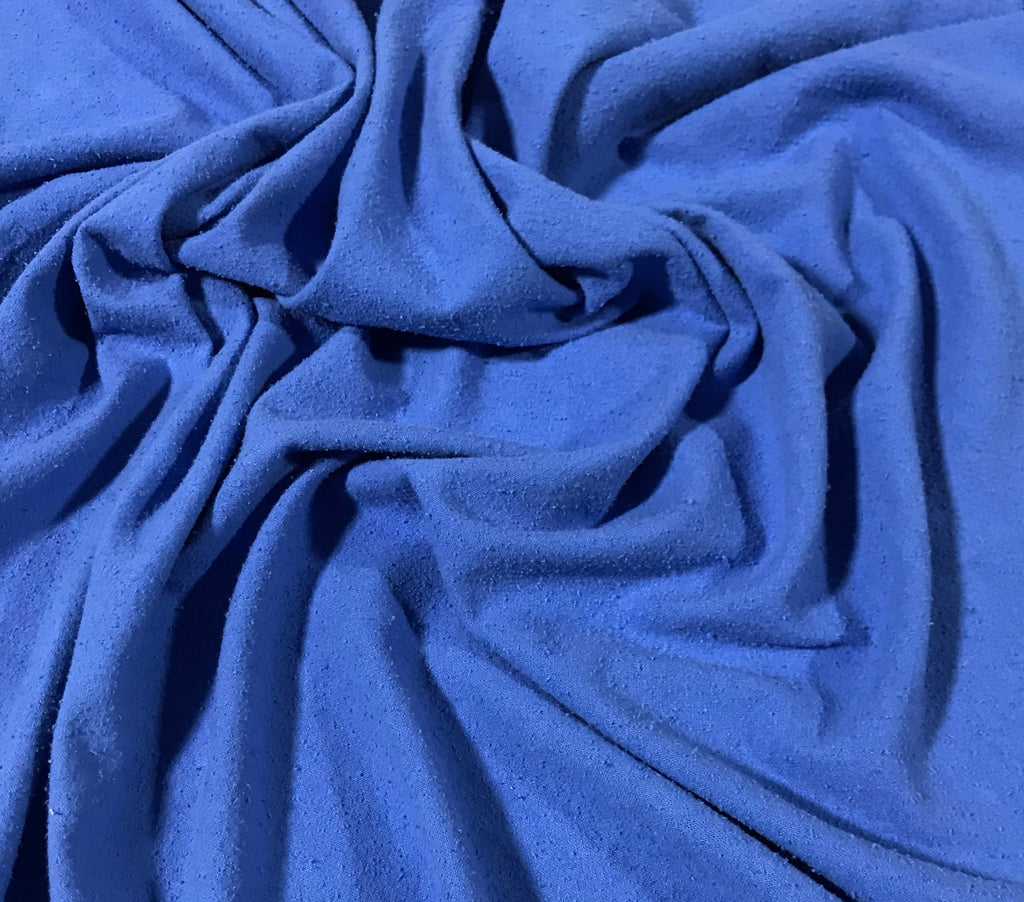 Periwinkle Blue - Hand Dyed Silk Noil