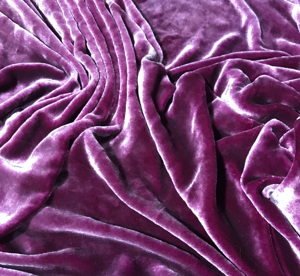 Boysenberry - Hand Dyed Very Plush Silk Velvet