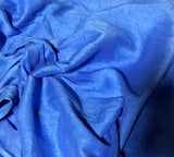 Cornflower Blue - Hand Dyed Silk Dupioni