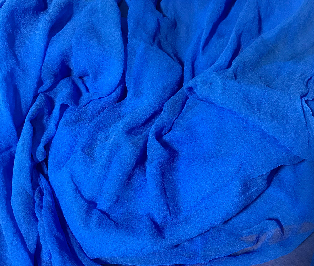 Cornflower Blue - 3mm Hand Dyed Silk Gauze Chiffon