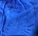 Sapphire Blue Floral - Hand Dyed Silk Jacquard