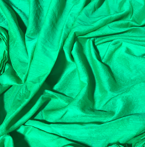 Bright Kelly Green - Hand Dyed Silk/Cotton Voile