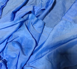 Cornflower Blue - Hand Dyed Silk/Cotton Voile