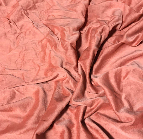 Peach - Hand Dyed Silk/Cotton Voile