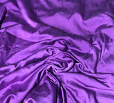 Amethyst Purple - Hand Dyed Silk/Cotton Satin