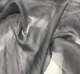 Pearl Gray - Hand Dyed Silk Organza