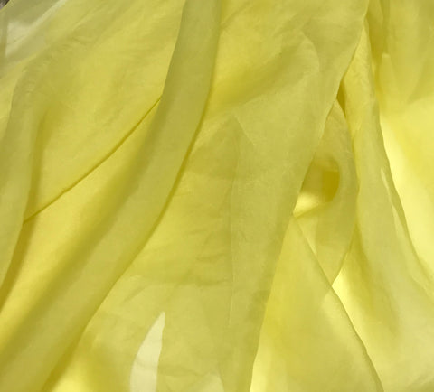 Sunshine Yellow - Hand Dyed Silk Organza