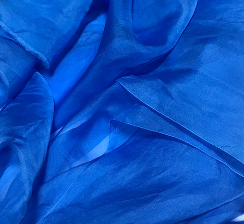 Cornflower Blue - Hand Dyed Silk Organza