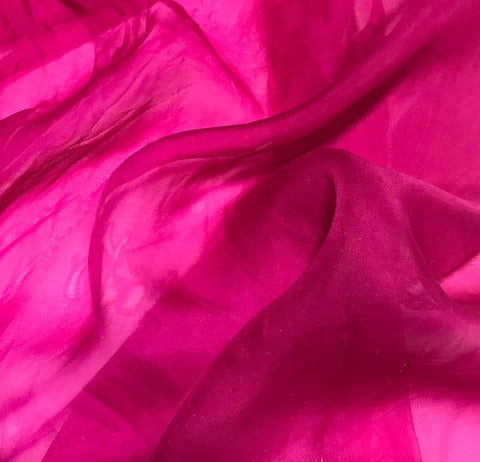Orchid Pink - Hand Dyed Silk Organza