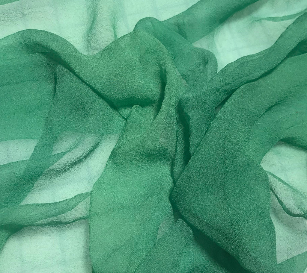 Spring Green - 3mm Hand Dyed Silk Gauze Chiffon